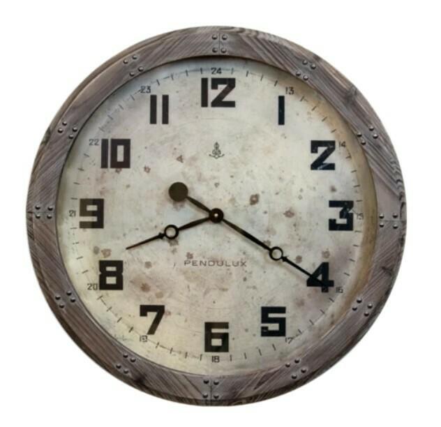 "25"" Wood Frame Clock"