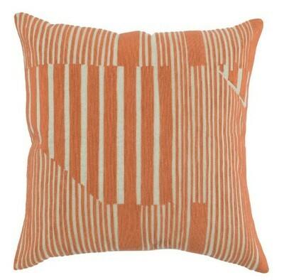 Orange Lines 22x22 Pillow