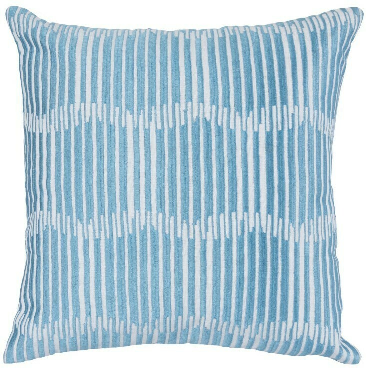 Blue Lines 22x22 Pillow