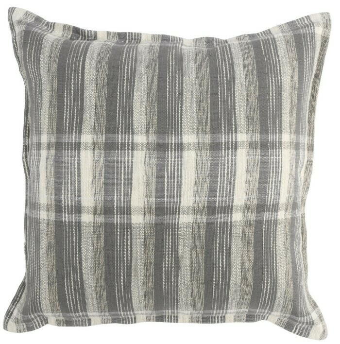 Gray & Ivory Plaid Pillow