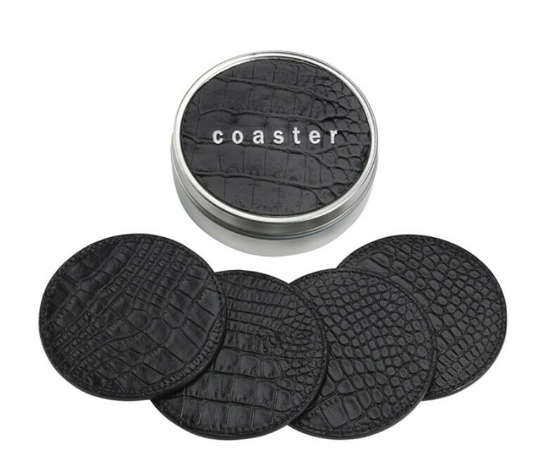 Crocodile Embossed Coaster Set
