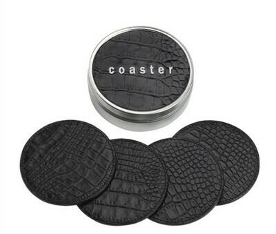 Crocodile Embossed Coaster Set