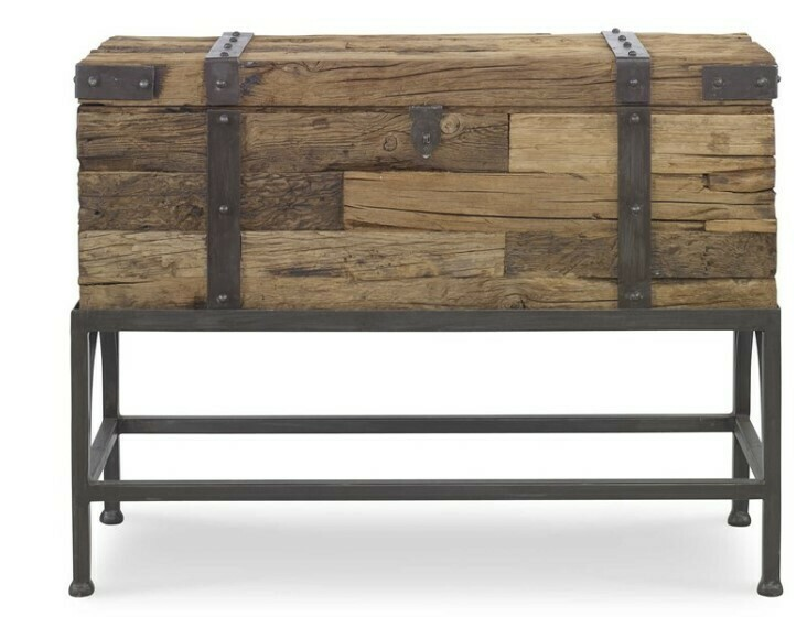 Reclaimed Wood Chest On Stand