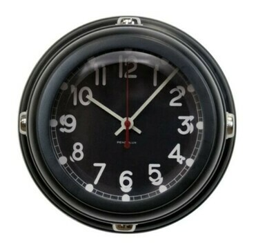 Deckhand Wall Clock Black