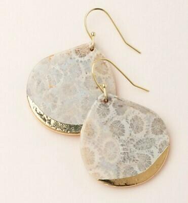 Stone Dipped Teardrop Earring