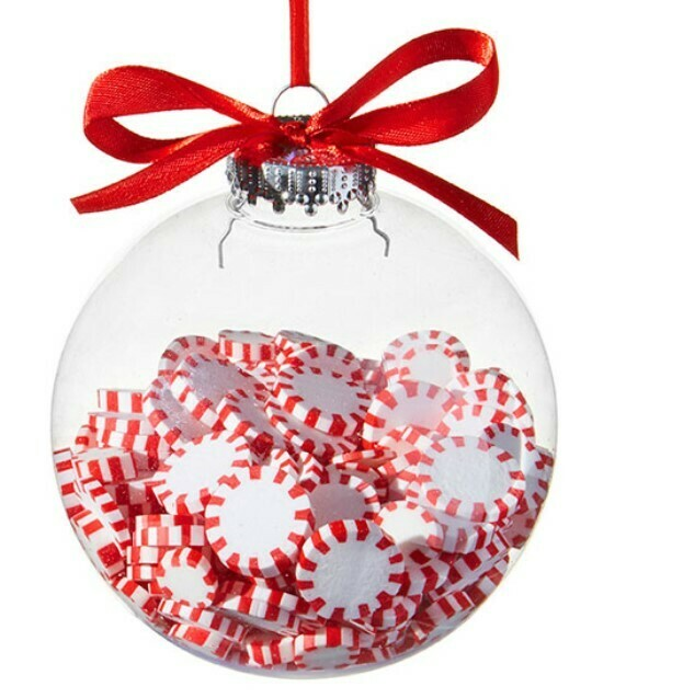 Peppermint Filled Ornament