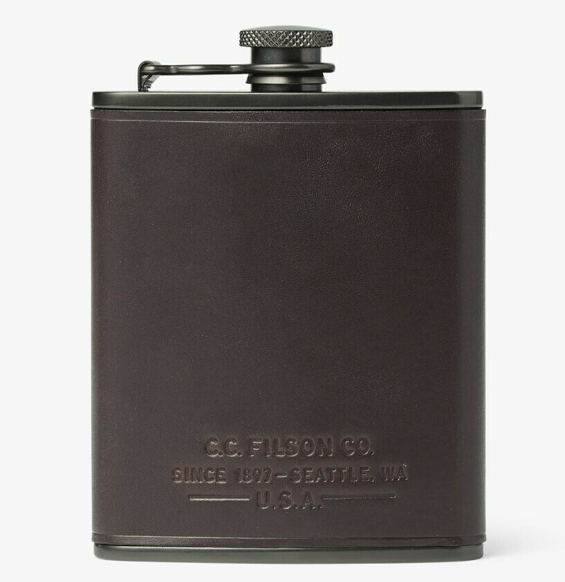 Filson Leather Flask