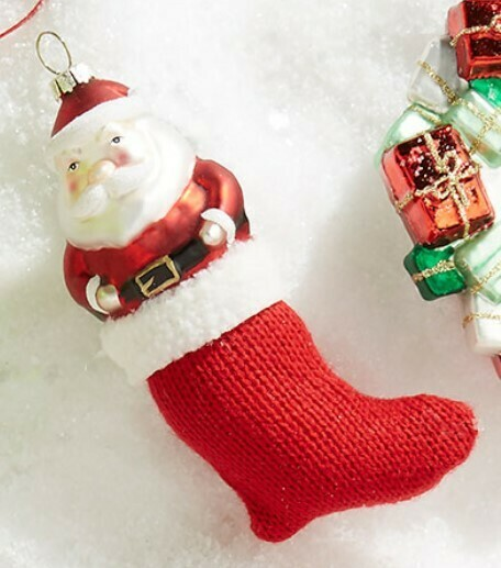 Santa Stocking Ornament