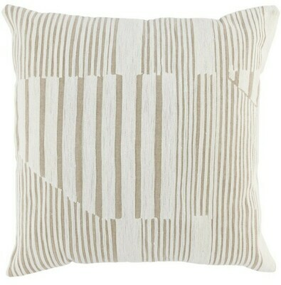 22x22 Natural/Ivory DF Pillow