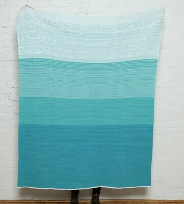 Poly Ombre Outdoor Throw Blanket