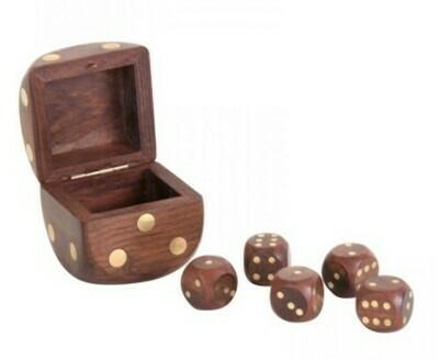 Dice Box - Brass
