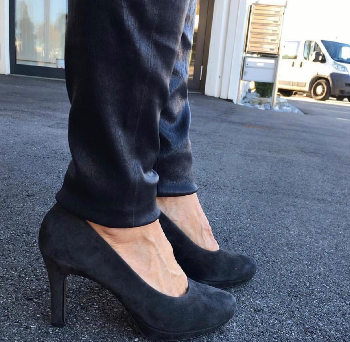 Navy Suede Pump