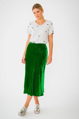 Velvet Skirt - Emerald
