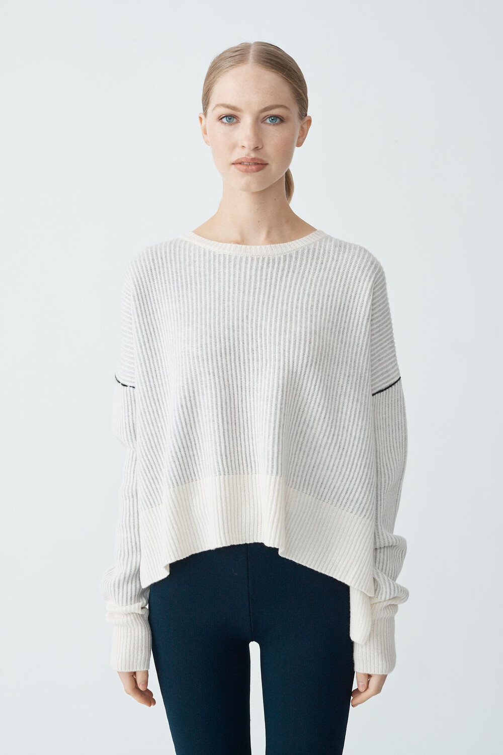 Rib Cashmere Sweater