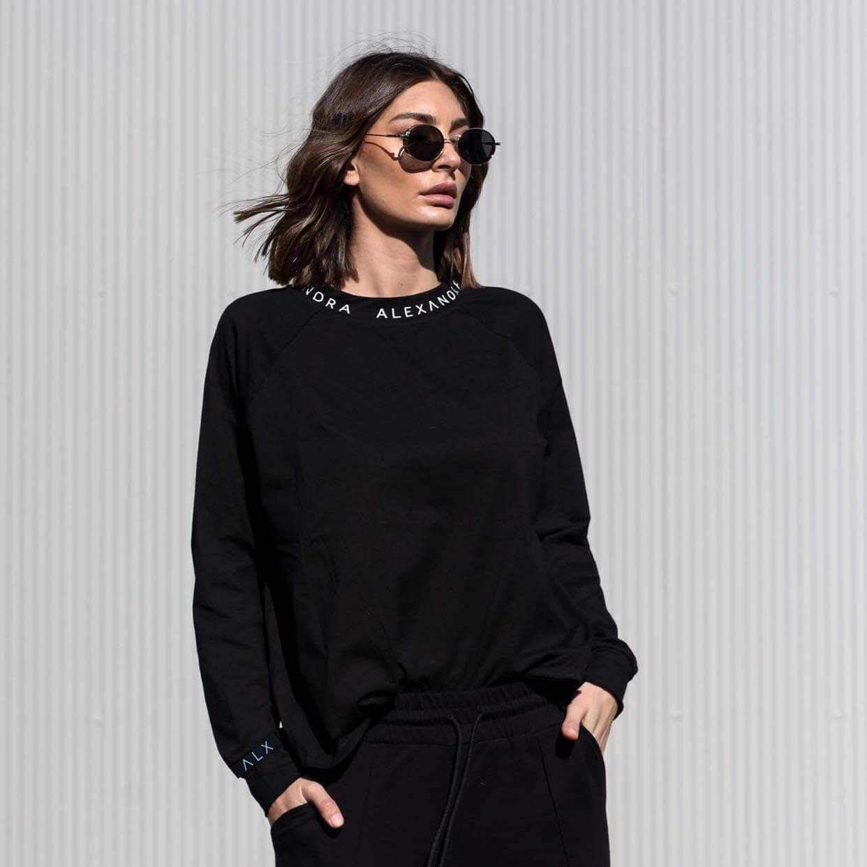 Alexandra Long Sleeve Tee - Black