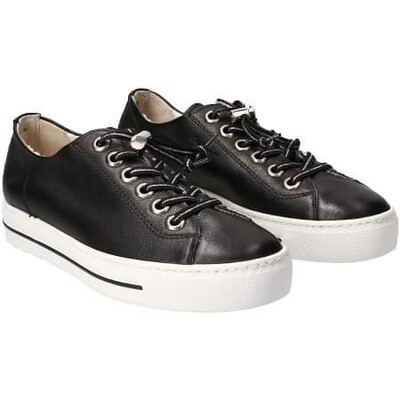 Paul Green Elastic Lace Sneaker - Black