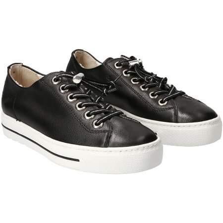 Paul Green Elastic Lace Sneaker - Black