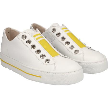 Pull On Elastic Sneaker - White