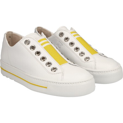 Paul Green Sneaker - White/Yellow