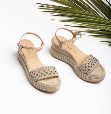 Platform Woven Natural Sandal