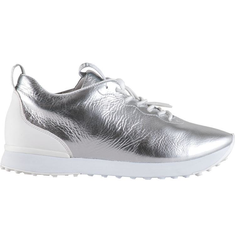 Pull On Style Sneaker - Silver