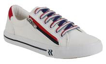 Contrast Zip Sneaker - White