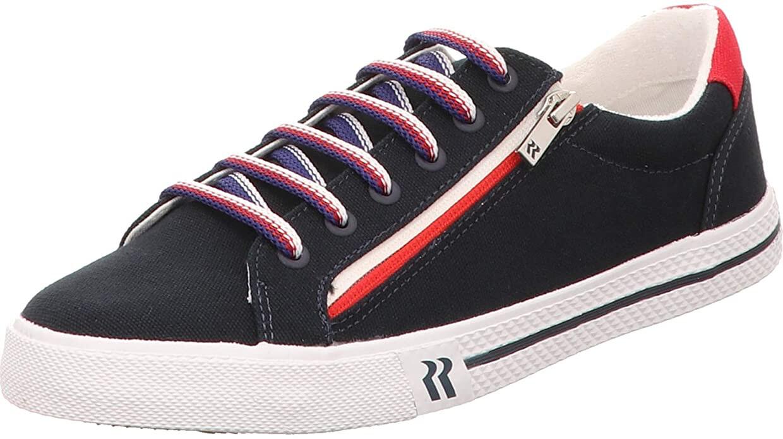 Contrast Zip Sneaker - Navy