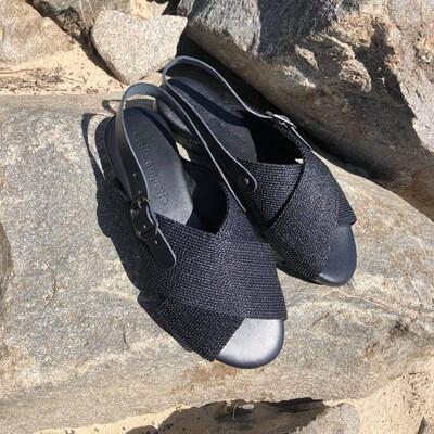 Criss Cross Sandal - Black