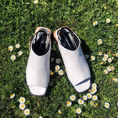 Enclosed Sandal - White