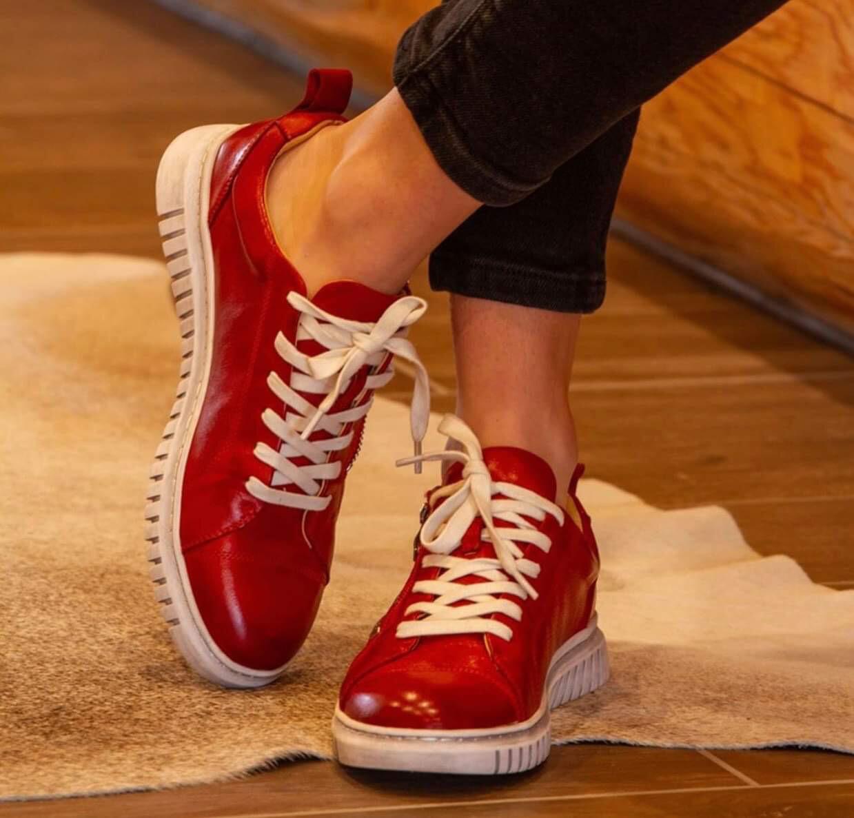 Red Zip Sneaker