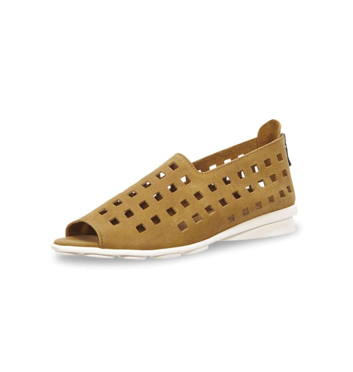 Tan Perforated Sandal