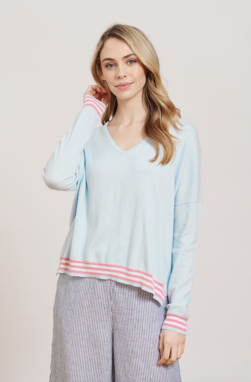 Alessandra Love Sweater - Light Blue