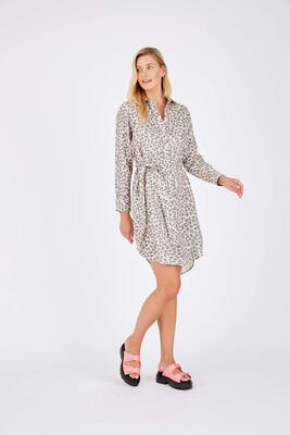 Alessandra Animal Long Sleeve Dress