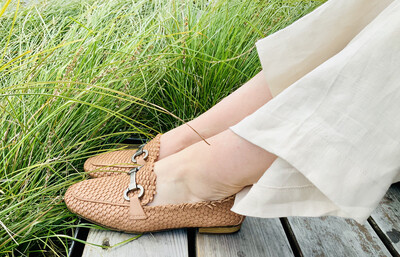 Woven Leather Loafer - Tan