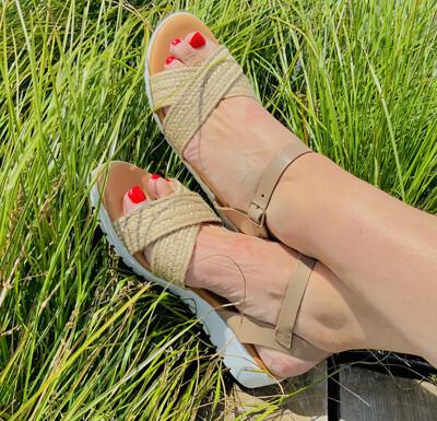 Woven Memory Foam Sandal