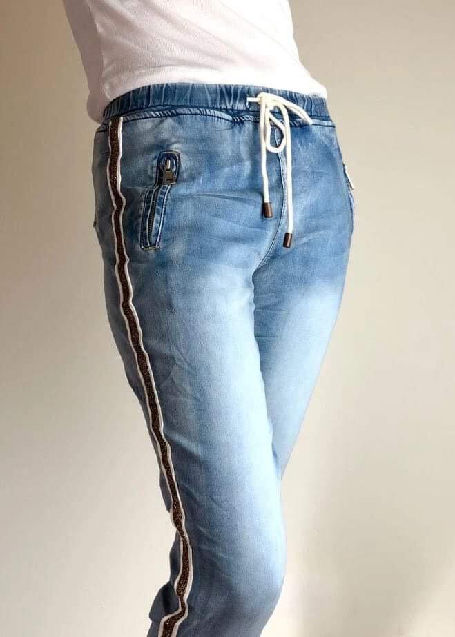 Italian Star Gold Stripe Jean