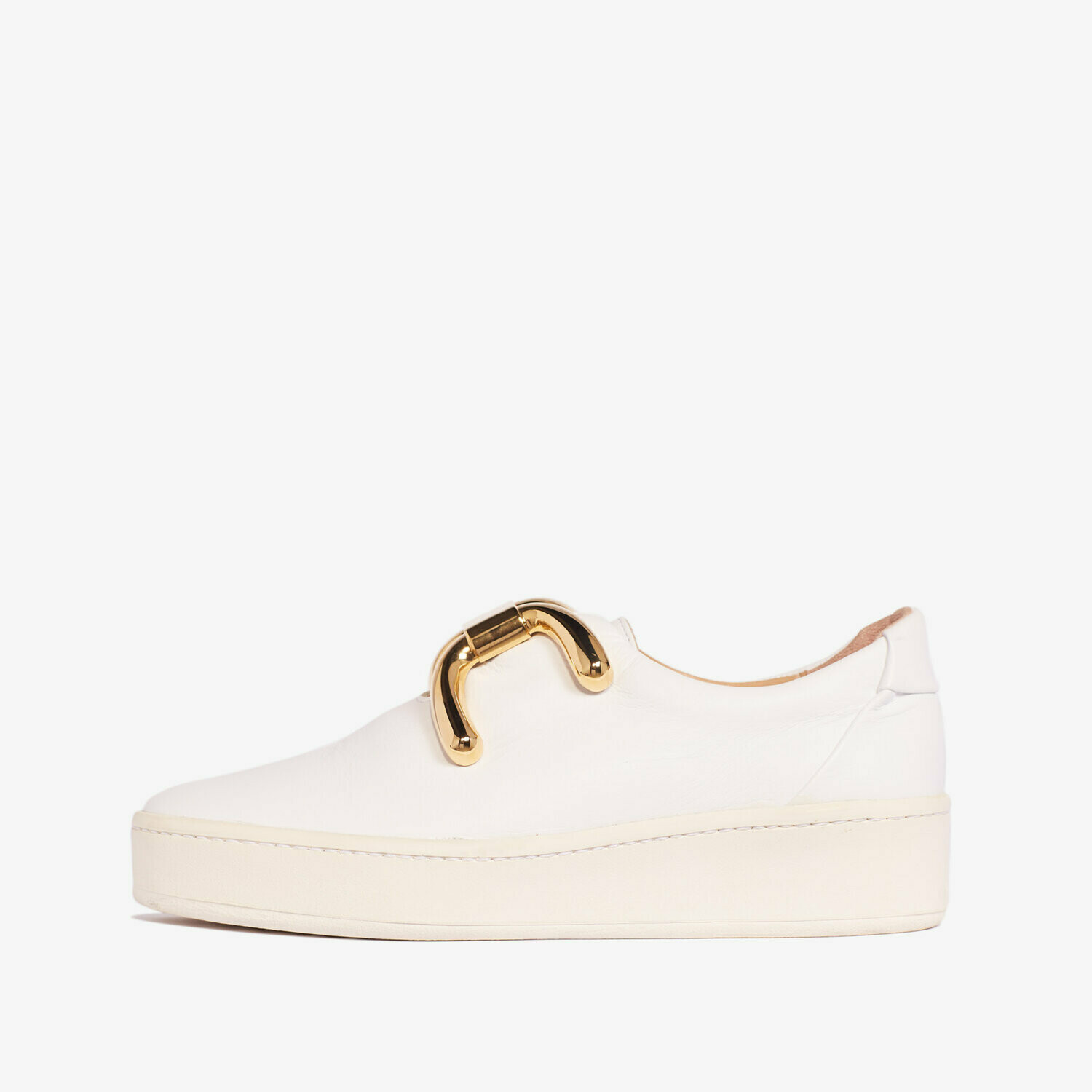 An hour and a shower knot sneaker - White & Gold