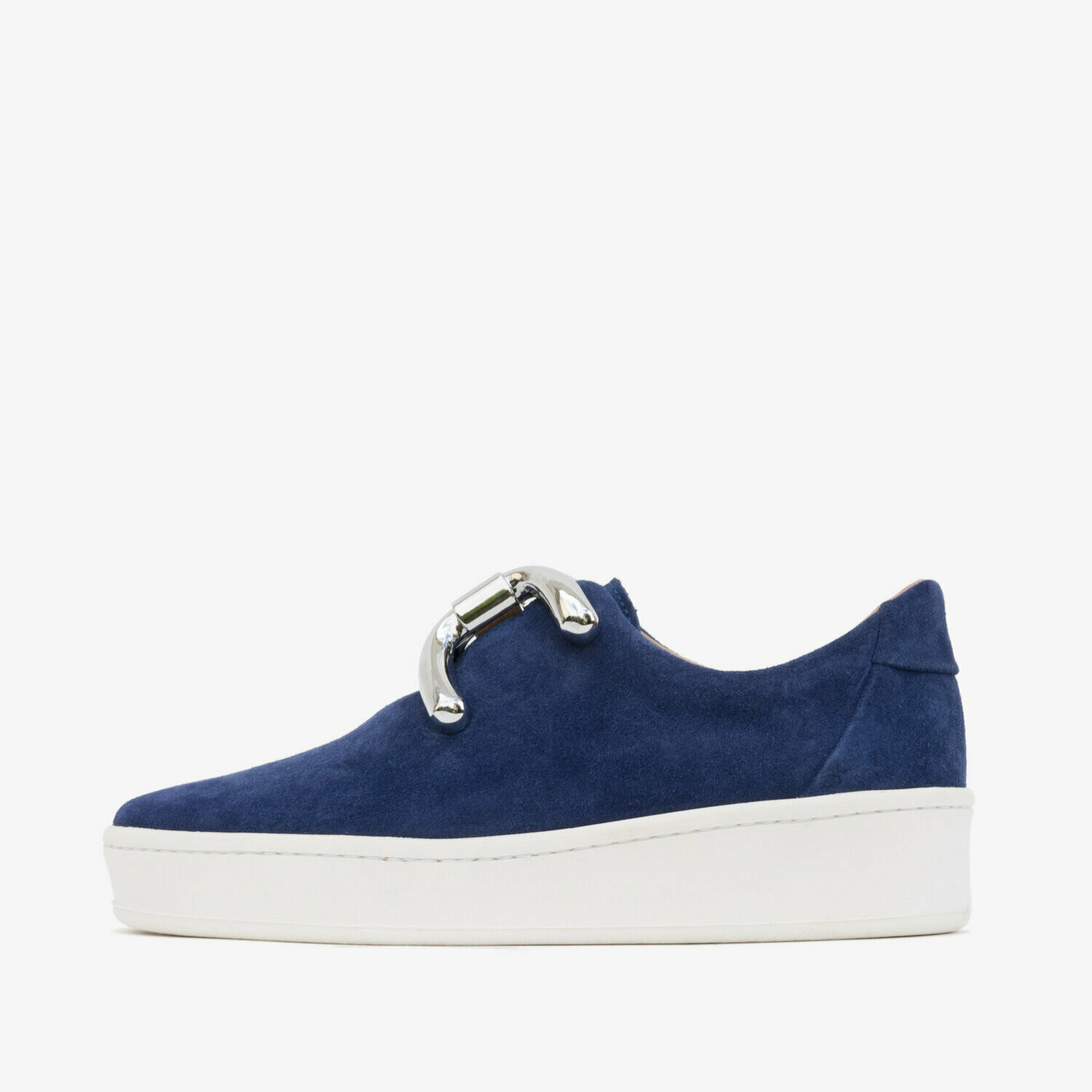 An Hour and A Shower Knot Sneaker Navy/Silver