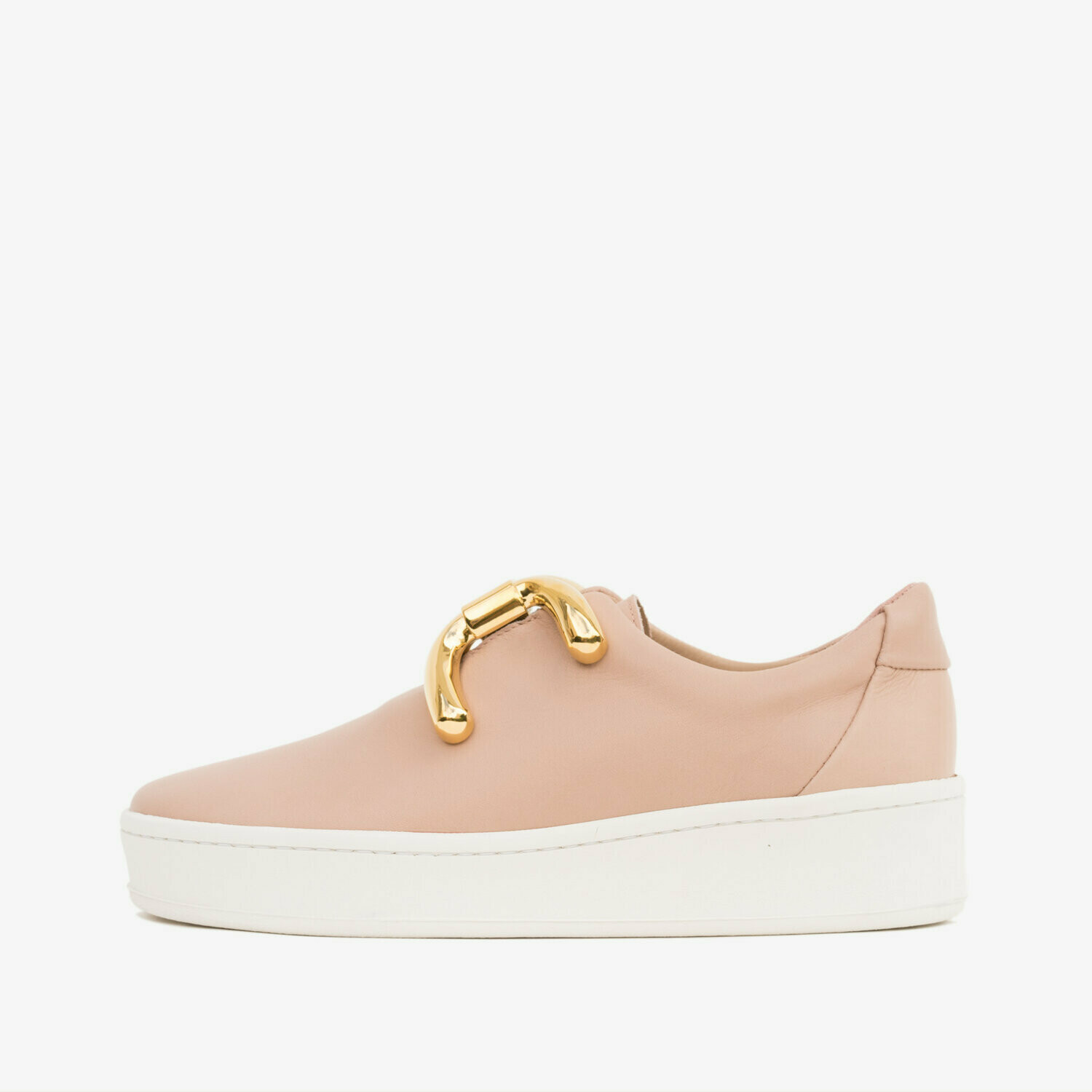 An Hour and a Shower Knot Sneaker- Pale Pink/Nude