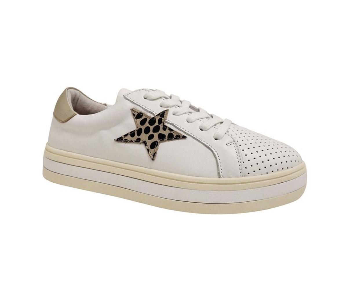 Alfie And Evie Pixie Sneaker White/Animal