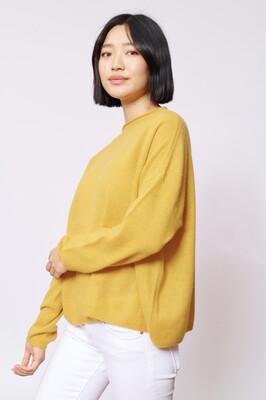 Alessandra Mustard Cashmere Sweater
