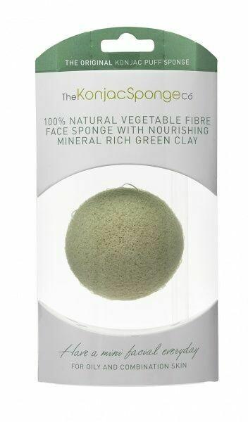 Premium Konjac Sponge with Green French Clay - kombinasjons hud