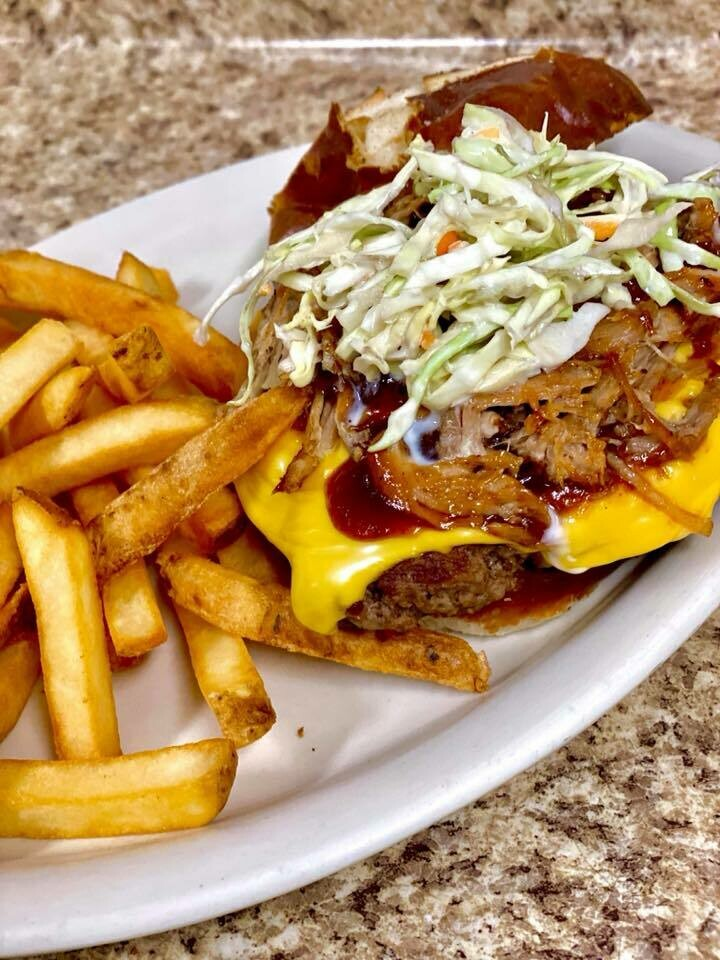 Piggy Burger (1/4 lb. and 1 Side)