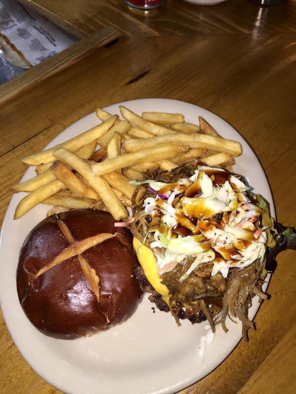 Piggy Burger (1/2 lb. and 2 Sides)