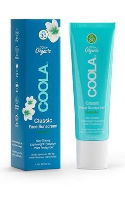 Coola Classic Face Organic Sunscreen Lotion SPF 30 Cucumber