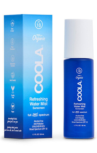 Coola Full Spectrum Refreshing Water Mist Organic Face Sunscreen SPF 18