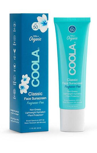 Coola Classic Face Organic Sunscreen Lotion SPF 50 Fragrance Free