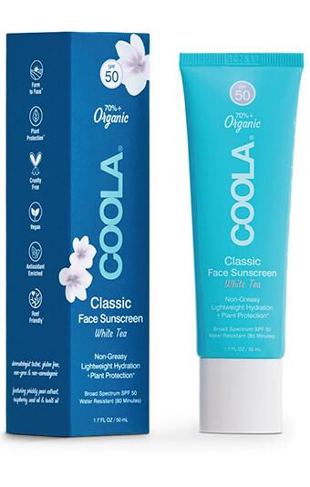 Coola Classic Face Organic Sunscreen Lotion SPF 50 White Tea