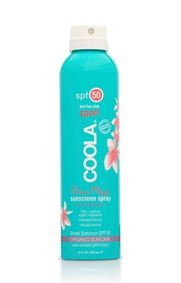 Coola Sport Continuous Spray SPF 50 Sunscreen Guava Mango