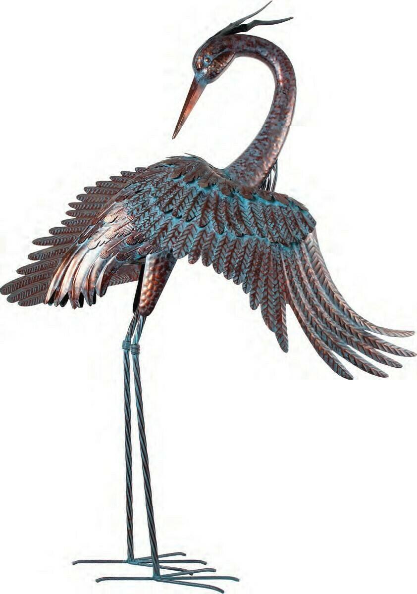 Metal Heron Wings Out